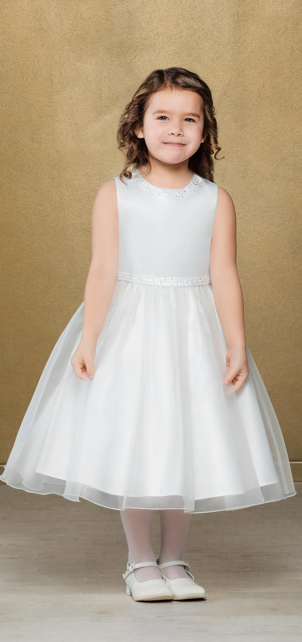 Emmerling Flower Girl Dress 91947 - Satin and organza